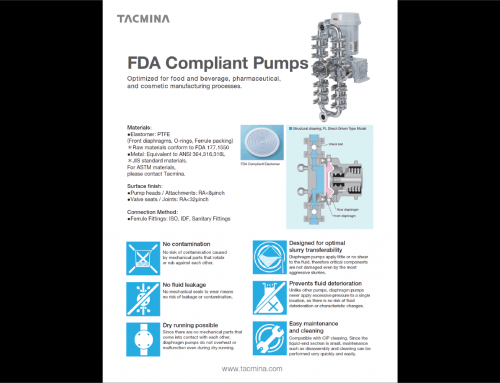 FDA Compliant Pumps Now Available